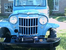 jeep willys wagon for sale 1963 willys overland pickup truck bluwht lakemirror102012 youtube