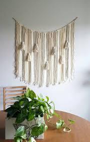 yarn wall hanging large tassels bohemian by upthewallflower
