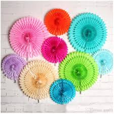 wedding paper fans 2017 new paper flowers for decorations 8 1216 hollow out tissue