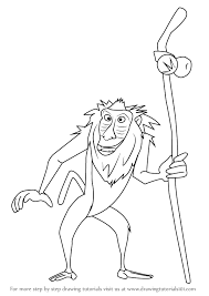 learn draw rafiki lion king lion king step