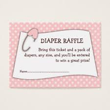 baby shower raffle pink baby shower raffle ticket insert zazzle