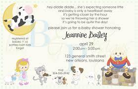nursery rhyme baby shower invitations iidaemilia com