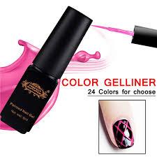 perfect summer soak off painted nail gel polish diy nail art uv