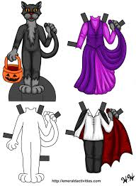 halloween cat paper doll 1 by heatherleeharvey on deviantart