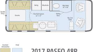 Type B Motorhome Floor Plans Winnebago Paseo Rv Review With Price Horsepower And Photo Gallery