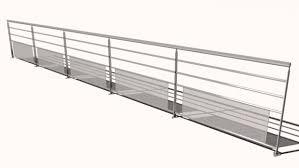 Steel Banister Steel Railing 3d Model 3ds Obj Mtl Dwg Dxf Stl Sldprt