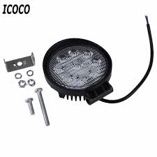 Truck Lighting Ideas by Icoco 4 Inch 27w 10 30v Dc Flood Beam Led Bulbs Work Light Lamp