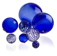 glass balls cobalt