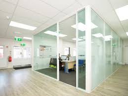 glass partitioning at silwood facilities ltd london double