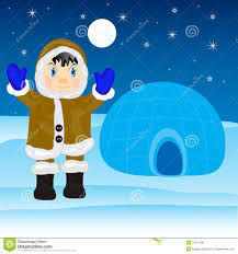 eskimo beside igloo stock photo image 37417090