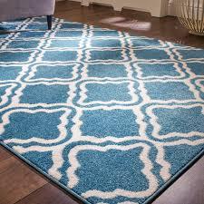 teal blue moroccan trellis living room rug light u0026 bright kukoon