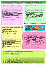 8 free esl saxon genitive worksheets
