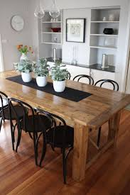 25 best rustic kitchen tables ideas on pinterest diy dinning rustic dining table pairs with bentwood chairs