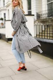 gingham trench coats for spring the stylist and the wardrobe