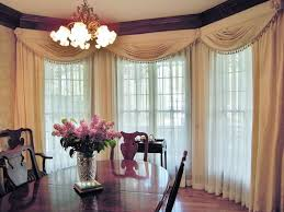 dining room window treatments with white satin home ideas