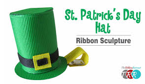 how to make a st patricks day hat ribbon sculpture