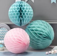 honeycomb balls hanging party decorations by ginger ray