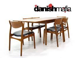 mid century danish modern teak dining table u0026 chair set danish mafia