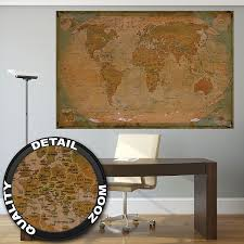 World Map Wall Decor by Historical World Map Poster Xxl U2013 Wall Picture Decoration Globe