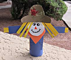 scarecrow toilet paper roll craft for kid u0027s halloween u0026 fall idea