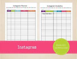 social media planner instagram content planner social media planner printable
