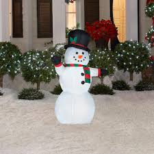 outdoor light up snowman christmas sacharoff decoration