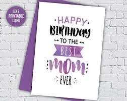 birthday card mum etsy
