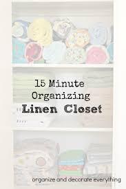 Organize Day 31 Days Of 15 Minute Organizing Day 6 Linen Closet Organize