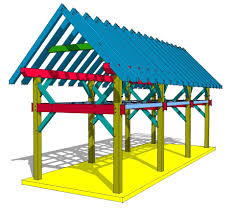 12x36 timber frame plan with loft timber frame hq