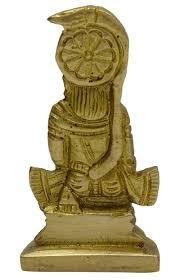 shiv parivar statue decorative religious brass gold tone office