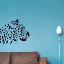 online buy wholesale leopard background from china leopard leopard head branch wall stickers home decor living room sofa background wall decals vinilos paredes stickers