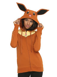pokemon eevee girls costume hoodie topic