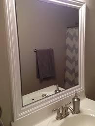 brushed nickel frame bathroom mirrors home