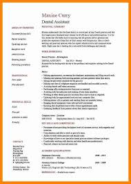 sample of dental assistant resume dental assistant resume sample