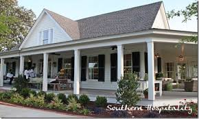 southern house plans wrap around porch single story house plans
