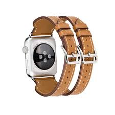 hermes bracelet leather images New genuine leather double buckle cuff band for iwatch 1 2 apple jpg