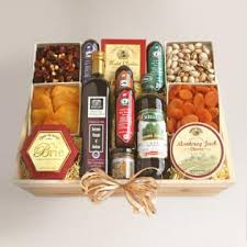 meat and cheese gift baskets hearty meat and cheese gift crate world market