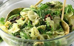 3 step spinach pesto pasta salad vegan gluten free one green
