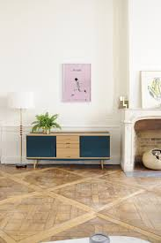 scandinavian design sideboard lacquered wood oak red