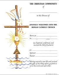 certificates of rite of christian initiation st jude shop inc