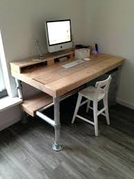 Computer Desk Accessories Best 25 Industrial Office Desk Ideas On Pinterest Pipe Desk