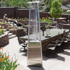 Decorative Patio Heaters by Az Patio Heater Stainless Steel Glass Tube Tabletop Heater Hayneedle