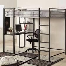 full loft bed with desk wayfair