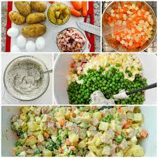 olivier cuisine olivier potato salad salat olivye салат oливье whole