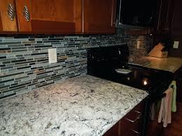 Granite And Tile Backsplash Ideas With Black Polyurethane For