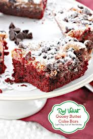 red velvet gooey butter cake bars can u0027t stay out of the kitchen