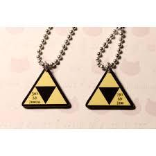 couples necklace legend of triforce couples necklace set polyvore