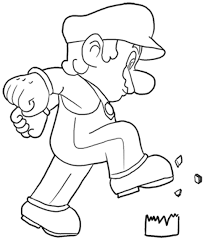 print u0026 download super paper mario coloring pages