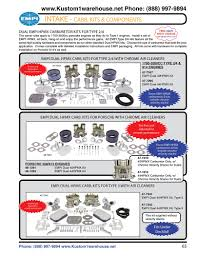 empi dual hpmx 40mm and 44mm weber idf carburetors kits with