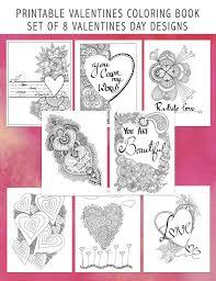 printable valentines coloring book 8 digital love amor